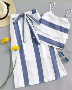 Shop Striped Tiered Cami Top With Knot Front Skirt online. SheIn offers Striped … Shop Striped Tiered Cami Top With Knot Front Skirt online. SheIn offers Striped Tiered Cami Top With Knot Front Skirt & more to fit your fashionable needs. Girls Fashion Clothes, Teen Fashion Outfits, Kids Outfits, Fashion Dresses, Baby Dress Design, Frock Design, Cute Casual Outfits, Stylish Outfits, Kids Dress Wear