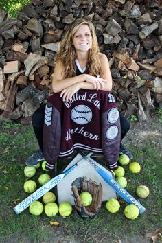 Pin by grace morgan on stuff softball senior pictures, softball pictures, s Senior Softball, Softball Senior Pictures, Girls Softball, Senior Boys, Fastpitch Softball, Volleyball Photos, Softball Things, Softball Cheers, Softball Crafts