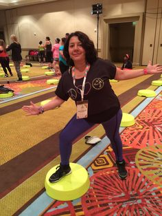 Zumba Convention 2015. Orlando, Florida. Zumba Step Master Class with Marcie Benavides