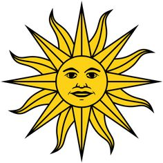 Inti (Sun Deity) from Uruguayan flag (America, southern continent)