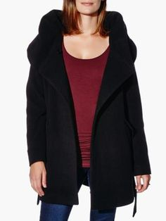 Hooded Wool Maternity Coat from #ThymeMaternity