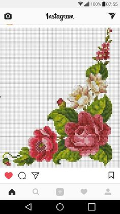 Designing Your Own Cross Stitch Embroidery Patterns - Embroidery Patterns Cross Stitch Love, Cross Stitch Flowers, Cross Stitch Designs, Cross Stitch Patterns, Learn Embroidery, Cross Stitch Embroidery, Embroidery Patterns, Hand Embroidery, Norwegian Knitting