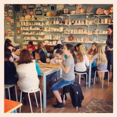 Paint Your Own Pottery Birthday Party In Barrington RI At Art By You Weirdgirl Creations Studio