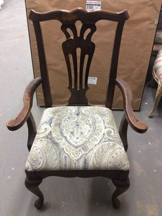 Reupholstered Pennsylvania House Arm Chair