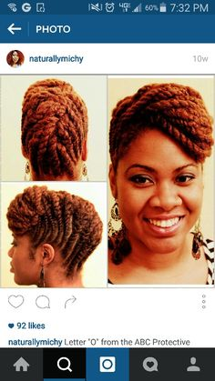Flat twist up do. If you are using Fabulocs products, partially blow dry hair with Fabulocs Dry Scalp Oil. We also recommend Fabulocs Intense Moisture Therapy while executing this type of style for maximum moisture retention.