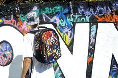 "#Bonne ""Graff"" Stamp #streetwear #backpacks #bags #bonnebags"