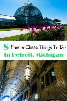 Top things to do in Detroit, Michigan that are not only interesting but also cheap or even free. Visit Detroit, Detroit Michigan, Detroit Area, Metro Detroit, Michigan Vacations, Michigan Travel, The Places Youll Go, Places To Visit, Cheap Things To Do