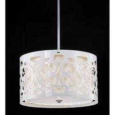 Hermosa White 3-light Pendant Chandelier   Overstock.com Shopping - Great Deals on Chandeliers & Pendants