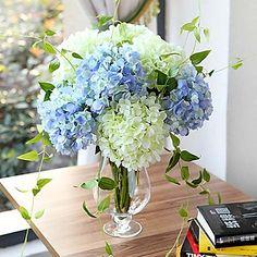 "27.6"" High Quality Artificial Hydrangea Silk Floral Decor (More Colors) 2016 - $8.99"