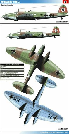 Heinkel He 111B-2 German medium bomber WW II