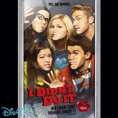 "New poster for ""I Didn't Do It"" with Olivia Holt, Piper Curda, Austin North, Peyton Clark and Sarah Gilman"