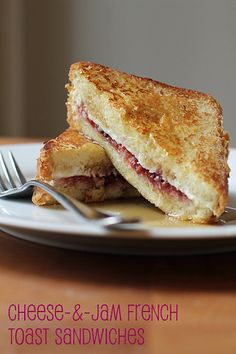 Cheese-and-Jam French Toast Sandwiches @FoodBlogs