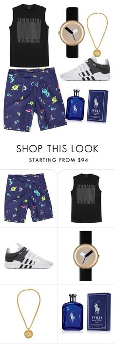 """Transform2017"" by mtobile ❤ liked on Polyvore featuring Raf Simons, Helmut Lang, adidas Originals, Nomad, Versace, Ralph Lauren, men's fashion and menswear"