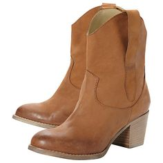 Dune Parrish Leather Block Heel Ankle Boots Online at johnlewis.com