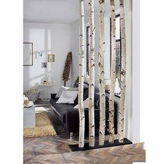 Exclusivholz Birkenstamm Exclusive wood birch trunk m, diameter: about 6 – 12 cm, untreated) Diy Home Decor, Room Decor, Diy Room Divider, Diy Casa, Creation Deco, Interior Design Living Room, Design Room, Kitchen Interior, Home And Living