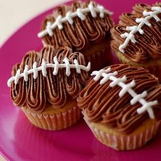 Tons of football shaped goodies...free football cupcake wrapper printable