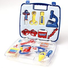 Educational Doctors Nurses Dress Up Role Play Toy Medical Case Set -- To view further for this item, visit the image link.