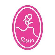 Run Girl Mini Mini Car Magnet - Pink I want this! @heatherferebee  @Rachel Clifton @Dianna Fowler