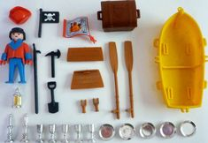 Playmobil 3570 - pirate / rowboat - Back
