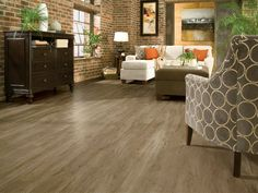 Armstrong Timber Bay - Molasses 48 in. x 6 in. luxury vinyl