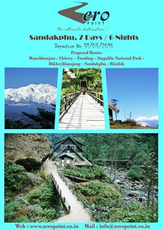 Wonderland Sandakphu, 7 Days / 6 Nights With Zero Point Travel, Package Tour 31.03.15 . Call Us: +91 9051212226/ +91 9903228000 / +91 9836289566