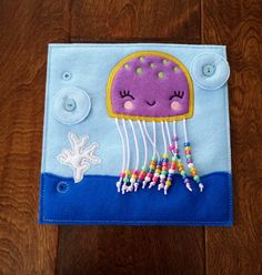 Jellyfish Counting Custom Quiet Book Page - Build a Personalized Busy Book Quiet Book Activity Book Busy Bag for Toddler Preschooler Gift - Create a Custom Quiet Book, Busy Book or Busy Bag with a variety of pages, both puzzles and activit - Diy Quiet Books, Baby Quiet Book, Felt Quiet Books, Jellyfish Quotes, Jellyfish Facts, Jellyfish Drawing, Watercolor Jellyfish, Jellyfish Painting, Jellyfish Tattoo