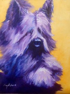 Skye Terrier Wall Art - Painting - Mick Skye Terrier by Terry Chacon Whippet Puppies, Terrier Puppies, Terriers, River Blindness, Skye Terrier, Old English Sheepdog, Dog Care Tips, Scottish Terrier, Working Dogs