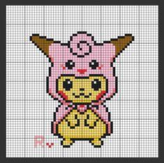 Hama Beads Pokemon, Diy Perler Beads, Perler Bead Art, Mini Cross Stitch, Beaded Cross Stitch, Cross Stitch Embroidery, Easy Perler Bead Patterns, Pony Bead Patterns, Pixel Pattern