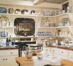Charles Faudree maxes out a small space with open shelving and some key lower cabs.