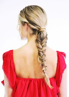 Twisted Messy Fishtail | lazy girl hairstyles | second day hair | @dirtywithme