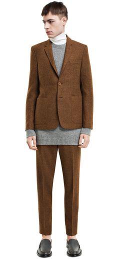 Stan tweed rust jacket #AcneStudios #menswear #PreFall2014