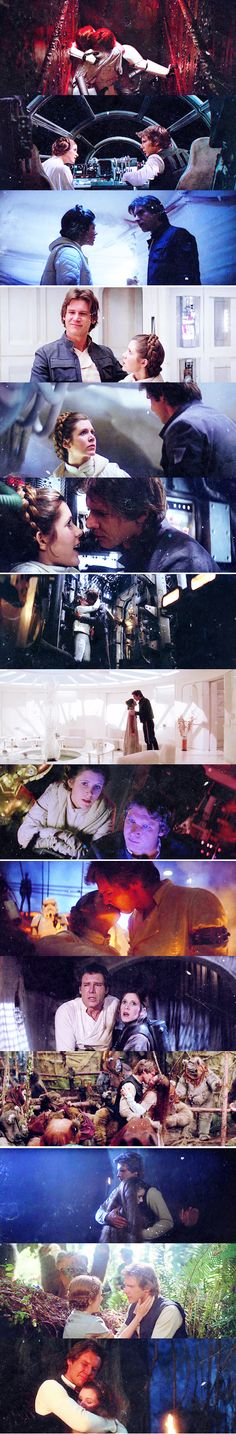 Star Wars - Han and Leia Star Wars Film, Star Wars Rebels, Star Trek, Star Wars Watch, Star Wars Love, Star War 3, Carrie Fisher, Harison Ford, Tableau Star Wars