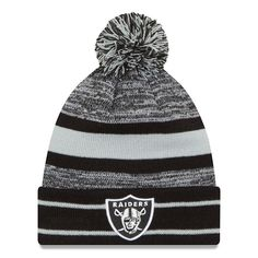 fdd7698a58f Adult New Era Oakland Raiders Cuffed Pom Beanie