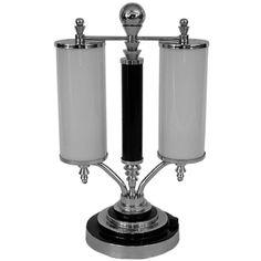 Outstanding  Large Streamline Art Deco Machine Age Lamp