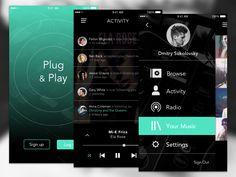 Music | Plug & Play UI by David TJ Powell