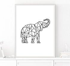 Resultado De Imagen Para Elefantes Geometricos