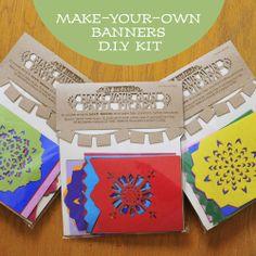 DIY Kit, makes 4 papel picado banners | Ay Mujer