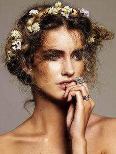 The Gifts Of Life : Fotoğraf~ lovely with Flowers in her Hair.