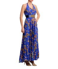 Look what I found on #zulily! Saxon Blue Paisley Surplice Dress by Polkadot #zulilyfinds