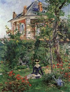 Edouard Manet (French, 1832-1883) - In the Garden of the Villa Bellevue, 1880