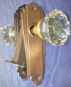 Lot of Antique Vintage and some Art Deco clear glass door knobs and plates