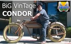 The Original Huge Giant Bicycles. These large Fat Tire Bikes Grab Attention Everywhere! The Ulimate Beach Cruiser! Bobber Motorcycle, Cool Motorcycles, Motorised Bike, Beach Cruiser Bikes, Bike Frame, Electric Bicycle, Bicycle Design, Vintage Bicycles, Custom Bikes