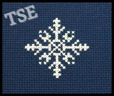 Snowflake #3 Cross Stitch PDF Pattern - Immediate Download from Etsy - Christmas Winter Card Series