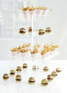 Party food display ideas from Peter Callahan's Mini-Masterpieces