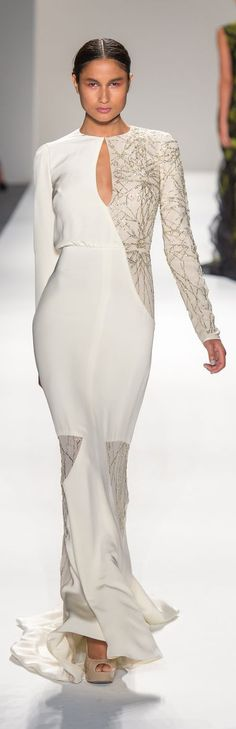Bibhu Mohapatra Spring 2013 collection is modeled during Fashion Week in New York, Tuesday, Sept. 11, 2012