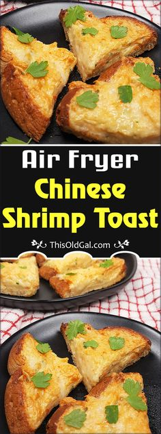 Dim Sum Air Fryer Chinese Shrimp Toast is a creamy and crispy appetizer frequently served at Chinese American restaurants. via @thisoldgalcooks