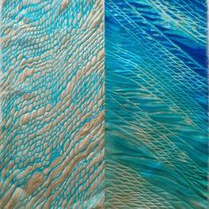 Arashi Shibori on Silk, Acid Dye- Liz Oliver