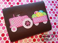 Easter Egg Tractor Applique - 4 Sizes! | What's New | Machine Embroidery Designs | SWAKembroidery.com Beau Mitchell Boutique