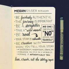 Megan Gilger – Circles Conference 2013 – Sketchnotes. Love how there are minimal images but they key points are identified.