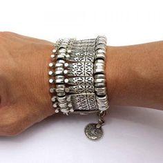 Fri Frakt! Vackert Bohemiskt, Gypsy Silver Armband på Tradera.com -